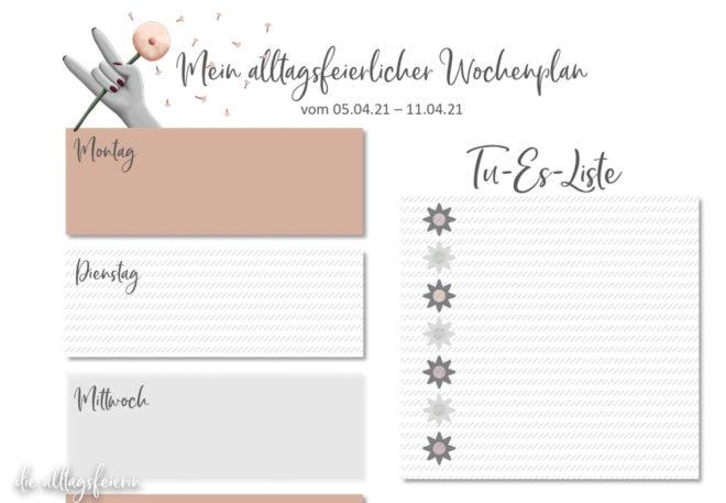 Essensplan No 14-2021, Freebie auf diealltagsfeierin.de