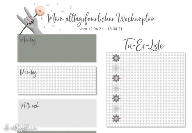 Essensplan No 15-2021, Freebie auf diealltagsfeierin.de