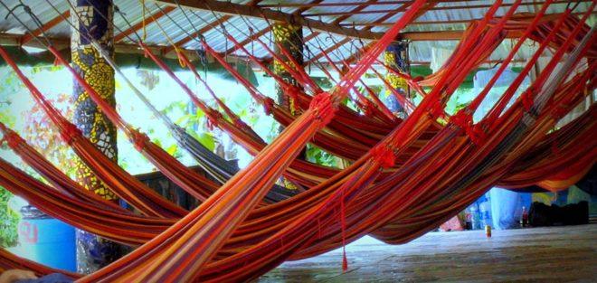 Costa Rica, Puerto Viejo Hostel, Hängematten, Chillen in Costa Rica