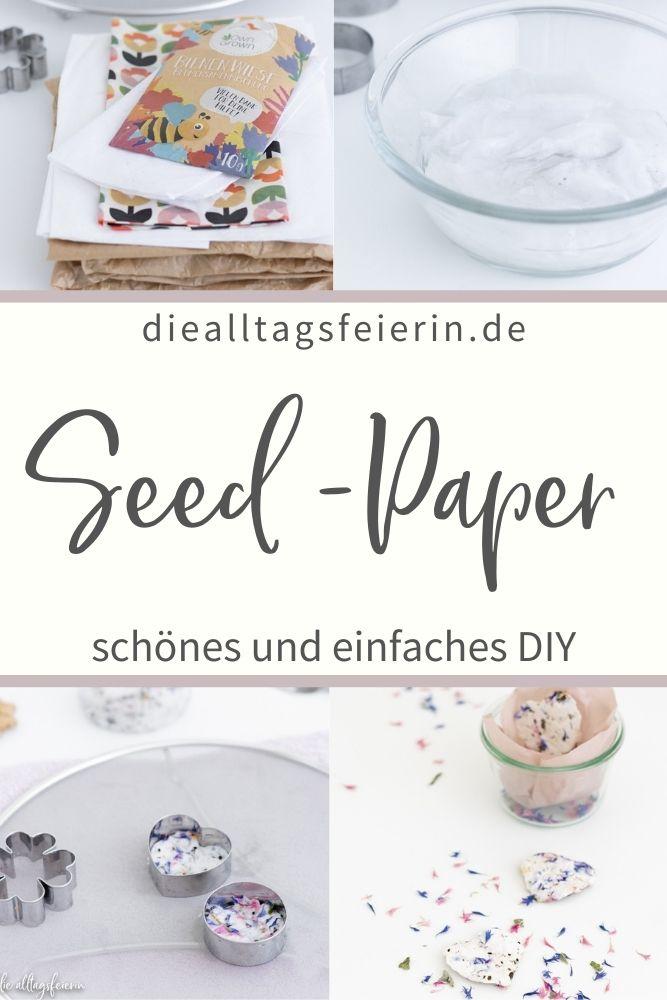 DIY Seed-Paper, eine einfache Bastelei, die gut mit Kindern funktioniert und auch die Bienen glücklich macht. Samen-Papier als kleines Mitbringsel