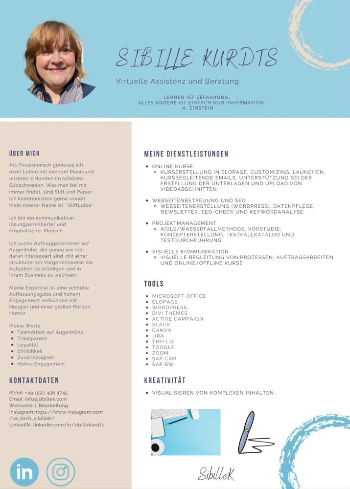 Sibille Kurdts - Portfolio virtuelle Assistenz