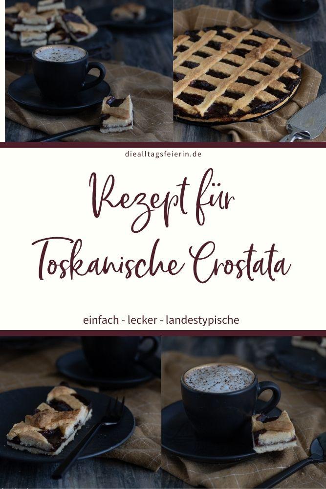 Rezept für toskanische Crostata, Linzer Schnitten auf die italienische Art