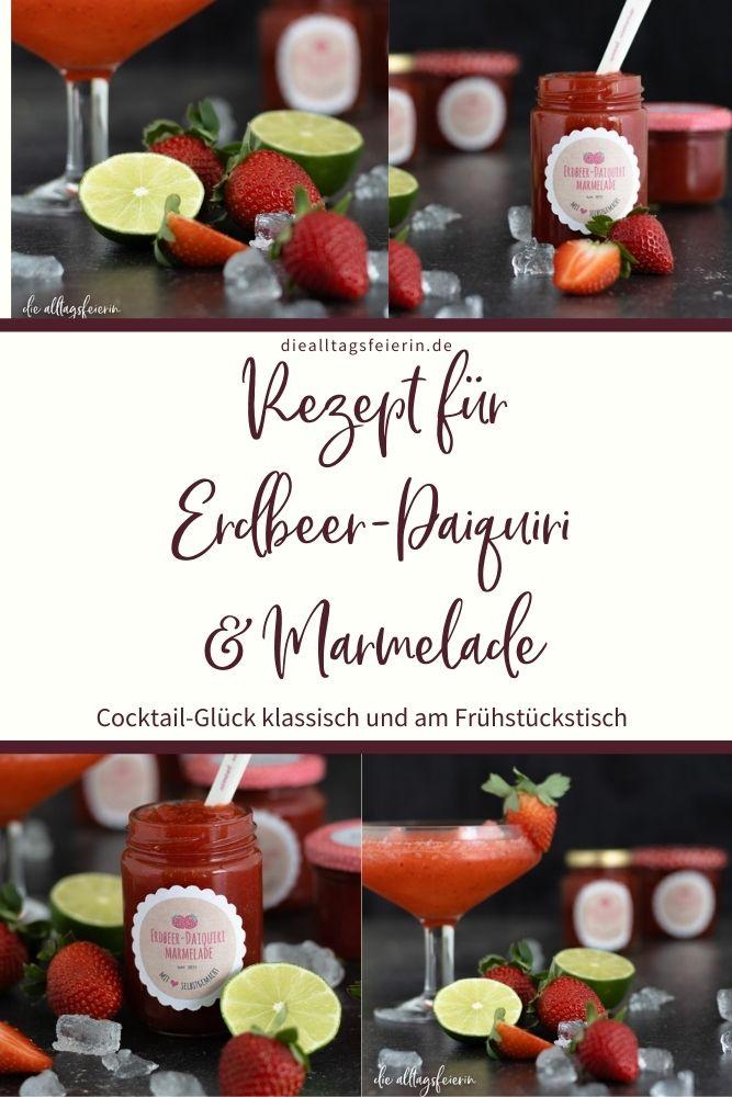 Rezept für Erdbeer-Daiquiri und Erdbeer-Daiquiri-Marmelade. #reisenzuhause Thema Costa Rica auf diealltagsfeierin.de