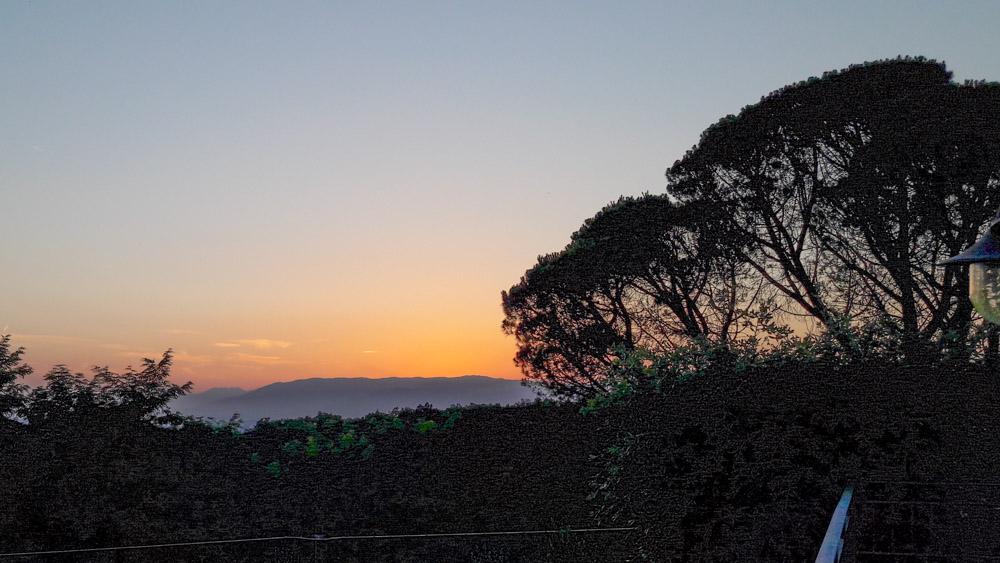 Sonnenuntergang Lamporecchio, Toskana