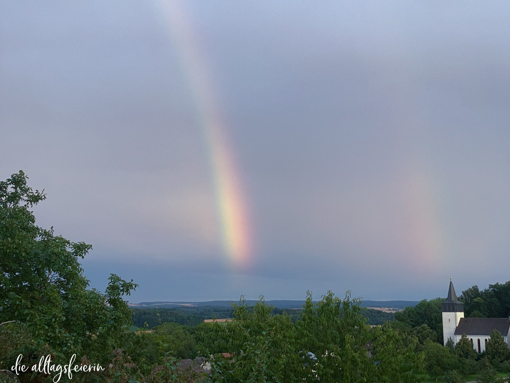 Wochenrückblick No 30-2021, doppelter Regenbogen