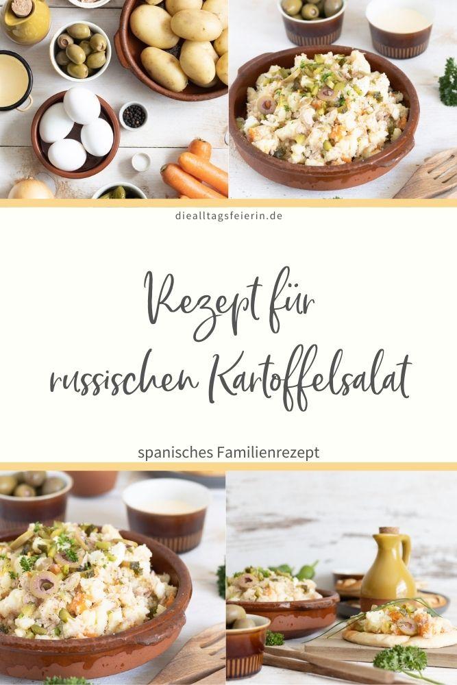 Ensaladilla rusa, Rezept für Russischen Kartoffelsalat