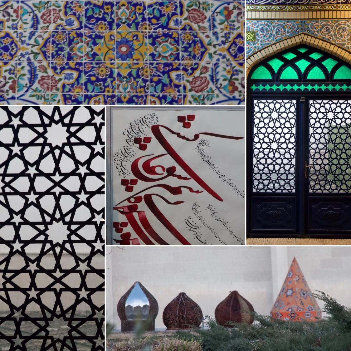 Muster, Fließen, Kacheln, Ornamente in Tehran