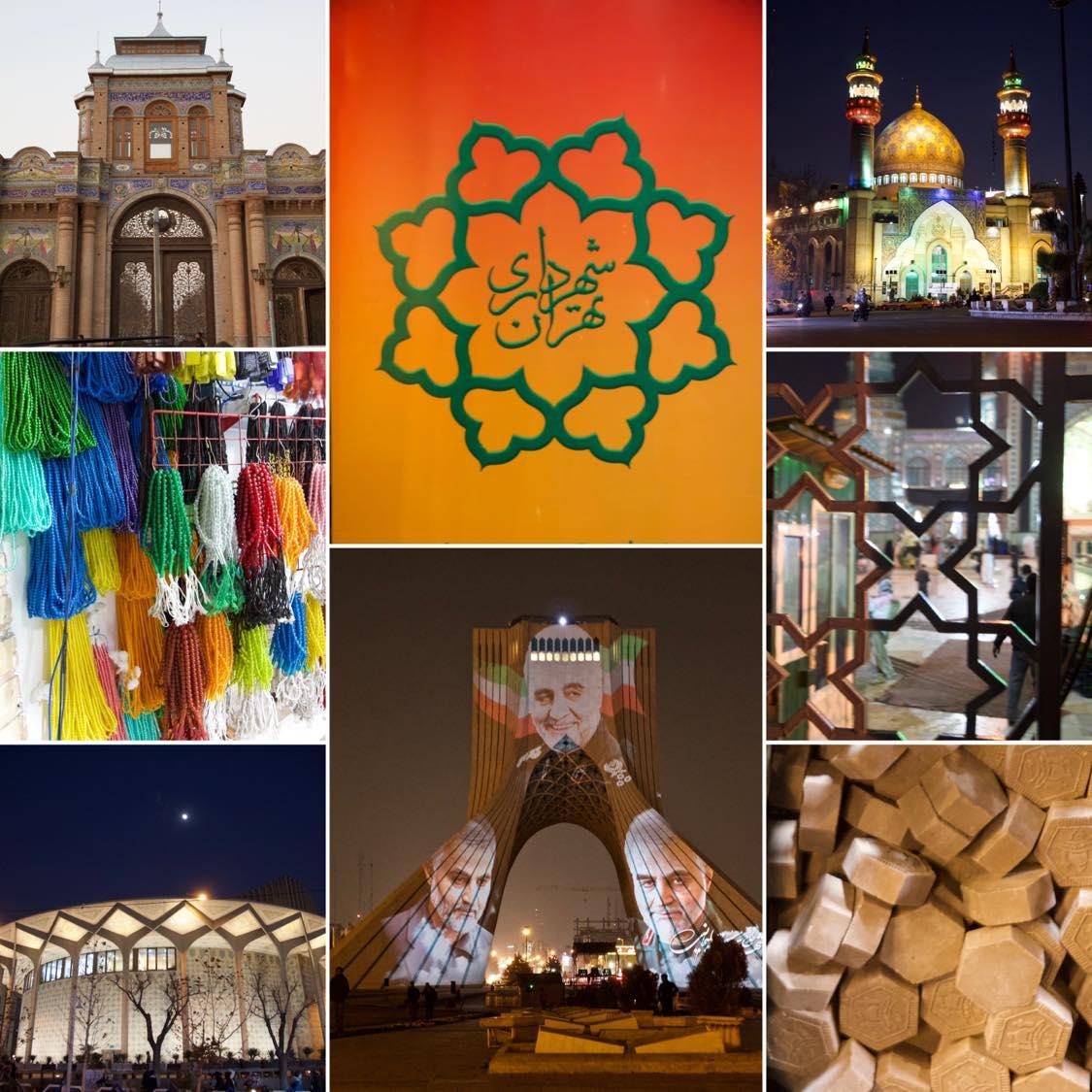 Tehran, Reisebericht, Collage Tehran, Bild 1