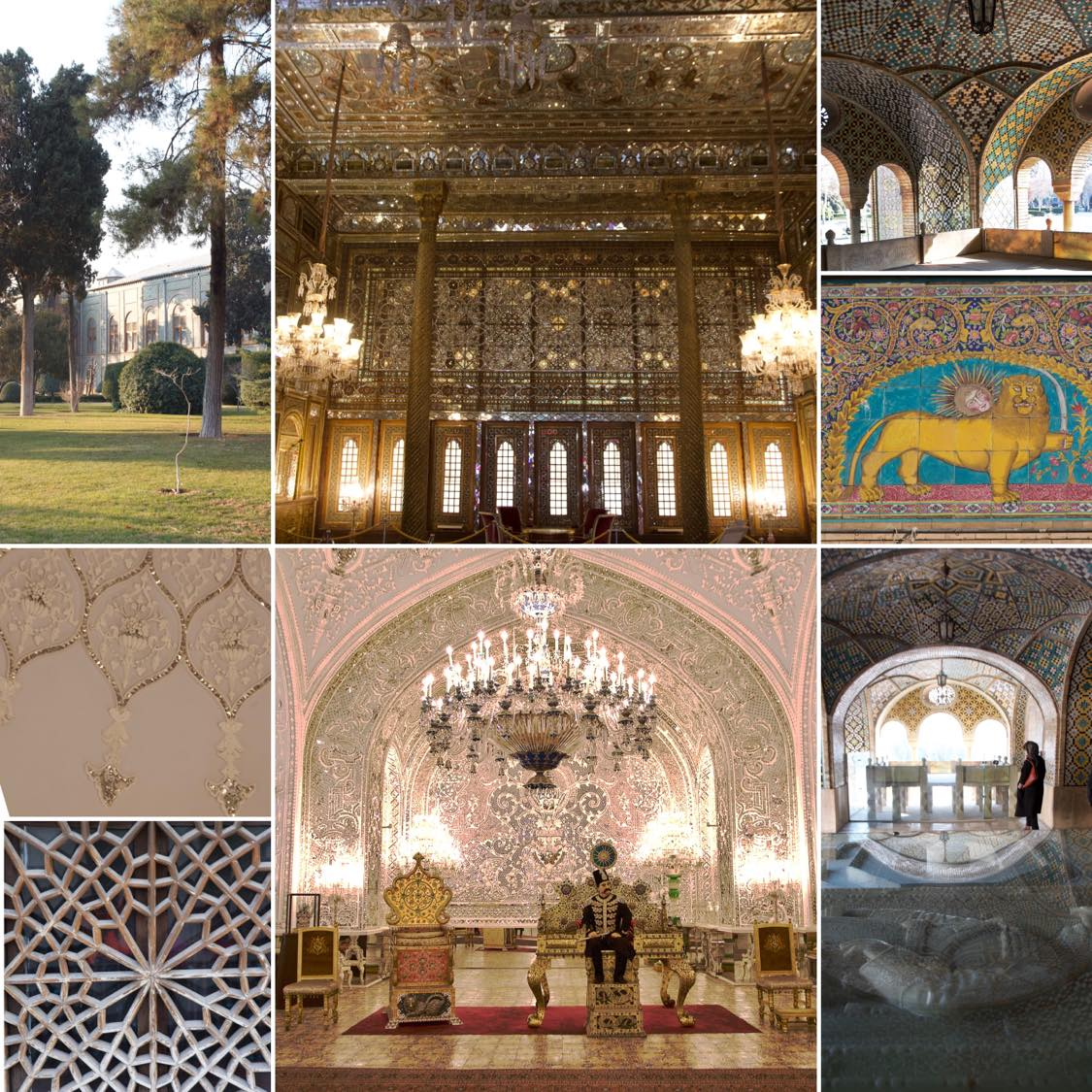 GOLESTAN PALAST, Tehran, Reisebericht, Collage Tehran, Teheran