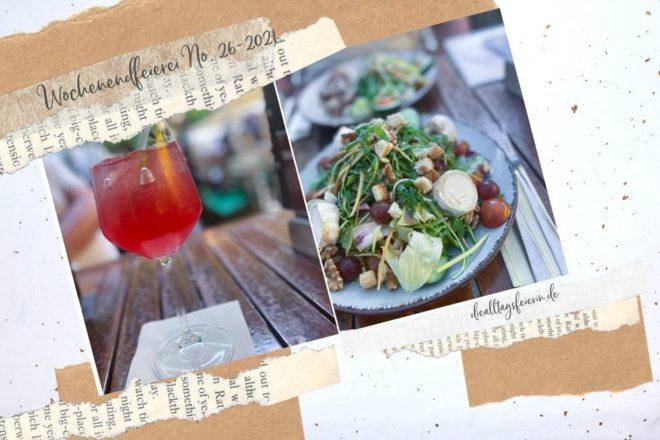 Leipzig, Campari Amalfi mit Ziegenkäse-Salat. Wochenendfeierei No 26-21