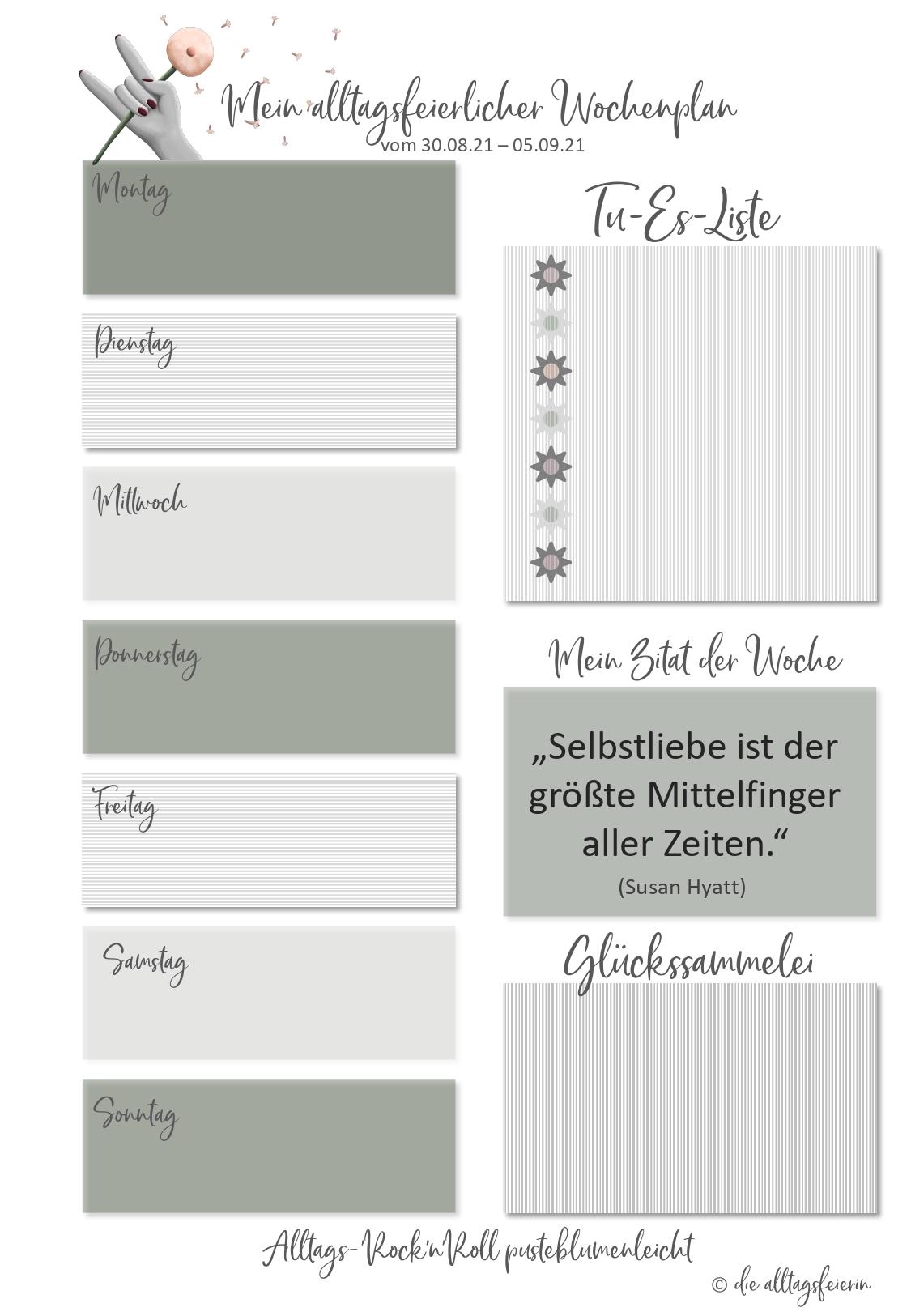 Essensplan No 36-2021, der wöchentliche Speiseplan auf diealltagsfeierin.de mit Freebie zum Ausdrucken