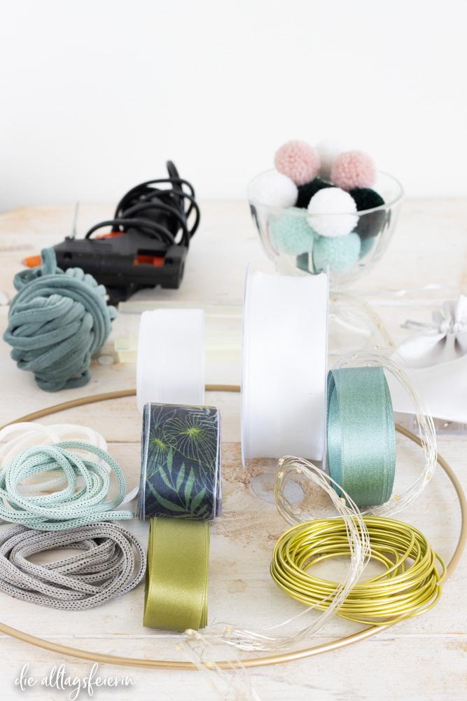 Material DIY-Lampe Happy Hippie, Bänder-Lampe DIY