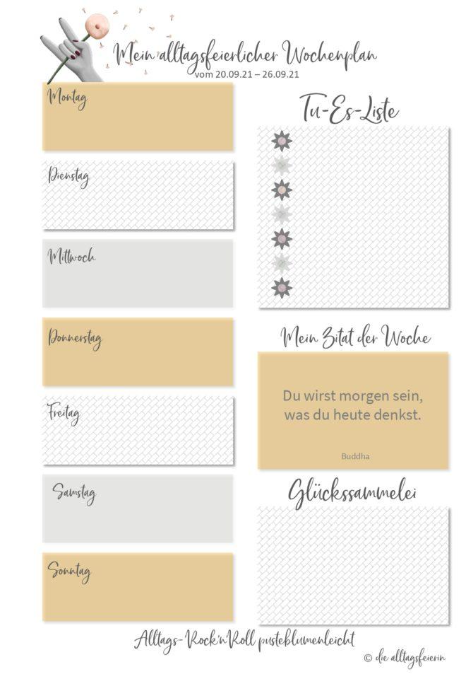 Essensplan No 38-2021, der wöchentliche Speiseplan auf diealltagsfeierin.de mit Freebie zum Ausdrucken